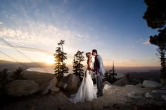 Mountain Top Wedding Venue, Lake Tahoe, CA, Heavenly Mountain Resort, Vernon Wiley Photography, #mountainweddings