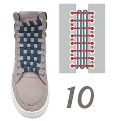 Ways To Lace Shoes, Diy Fashion, Mens Fashion, Creative Shoes, Tie Shoelaces, Fashion And Beauty Tips, Tie Shoes, Lace Patterns, Custom Shoes