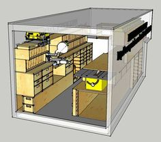 Ron Paulk's mobile woodshop fits inside a 1,000 cubic foot truck and packs every major power tool with a number of rather clever storage solutions. Even be