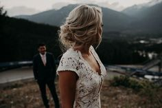 Incredibly epic first look photo over the mountains!