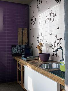 Ceramic #wall tiles MEZZA by @Ceramica Bardelli | #design Marco Ferreri #kitchen  wow