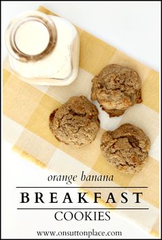 This hearty and healthy cookie is the perfect thing for breakfast on the go!