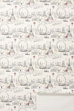 Expensive but fabulous wallpaper with images from London, Paris & Venice.  Great for the smallest room in the house or one wall.
