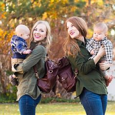A little sister rivalry on the blog today... The Shaylee in brandy vs. the Meggan in brandy.  Check out the blog to see what we love about these beautiful @lilyjadeco diaper bags! #ljgiveaway @liz  #lilyjadepinterestgiveaway