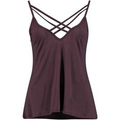 Boohoo Lydia Double Strap Swing Cami | Boohoo ($10) ❤ liked on Polyvore featuring tops, tank tops, ribbed crop top, high neck crop tank, high neck cami, cropped camisoles and crop tank