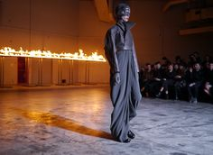 Rick Owens Fall/Winter 2012  Somewhere between Grunge meets Buddhists meets a stark future. I'm digging it.
