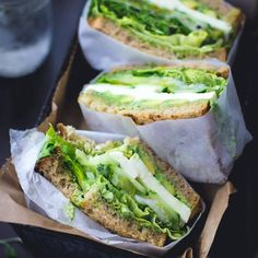 See if they surpass my cucumber hummus and sprouts sandwiches.The Bojon Gourmet: Green Goddess Sandwiches I Love Food, Good Food, Yummy Food, Vegetarian Recipes, Cooking Recipes, Healthy Recipes, Diet Recipes, Bojon Gourmet, Healthy Snacks