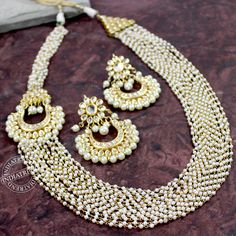 Shwetika Necklace + Earrings by Indiatrend. Shop Now at WWW.INDIATRENDSHOP.COM