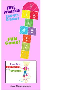 Practice Multiplication Facts with Hopscotch