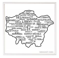 Loving the shopping map of London, particularly from Harvey Nic's & Harrod's south!