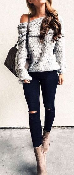Must have 151 Sweaters Outfit Idea You Should Try This Year | Fashion https://dressfitme.com/sweaters-outfit-idea-you-should-try-this-year/