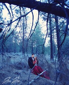Little Red Riding Hood Inspired Engagement Shoot by Jay Jay Studios | Dress by Karoza Bridal