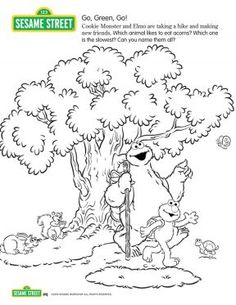 go green go sesame street coloring pages for kids sprout