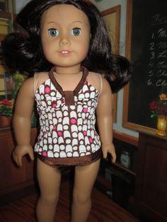 Summer Tankini set for American Girl Doll by cathysdollcreations