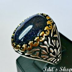 Men's Ring Turkish Ottoman Style Jewelry 925 Sterling by IdilsShop, $95.00