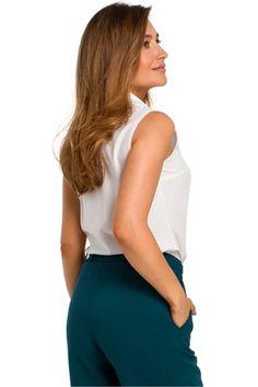 Shirt model 135289 Style – Blushgreece.shop Blouse Models, Sleeveless Blouse, Chambray, Blouses For Women, Tory Burch, Paisley, Tommy Hilfiger, Polo Ralph Lauren, Spandex