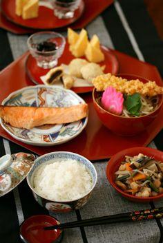 Japanese Breakfast on January 1, 2013 (Gantan, New Year's Morning Dish)|元旦の朝ごはん