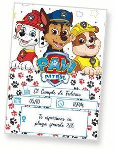 Descargar Invitacion Paw Patrol Editable Gratis En 2021 Invitaciones De Paw Patrol Tarjeta De Cumpleanos Gratis Cumpleanos Patrulla Canina Decoracion