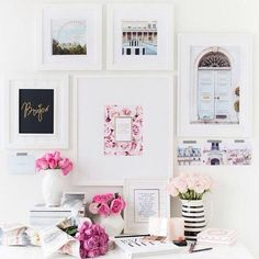 {home office inspiration} / pink / girly / interior decor / decoration / office / desk Home Office Design, Home Office Decor, House Design, Home Decor, Office Set, Office Ideas, Ikea Office, Pink Office, White Office
