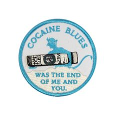 Cocaine Blues Patch by Ball & Chain Co. Patch Shop, Pin And Patches, Ball Chain, Blues, My Favorite Things, Enamel, Iron, Outfits, Scrappy Quilts