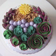 Amazing Buttercream Succulent Cake