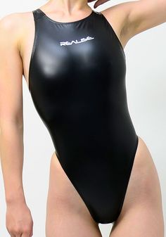 Rubber Swimsuit T-back / Black - Competition Swimsuit Shop d-style