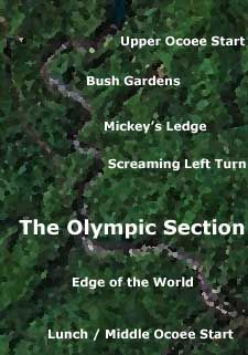 """Upper Ocoee and Olympic section (and it should be """"Mikey's"""", not """"Mickey's"""")"""