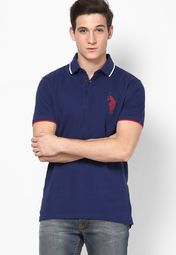 8deda301 Buy Phosphorus Navy Blue Polo T-Shirt By ADPC Online - 3046451 - Jabong
