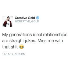 Y'all be like: My gf/bf just beat the shit out of me but we're in love so ima post the bail #relationship goal. Smh a generation full of dumb fucks.