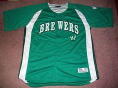 MLB Milwaukee Brewers Baseball Jersey True Fan Mens XL46-48 True Fan Merchandise