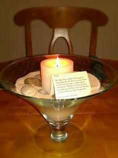 Another centerpiece / candle holder idea for the season. Could be used in the sanctuary, or at home...
