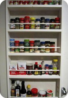Spice Up Your Life, DIY pantry door spice rack Cabinet Door Spice Rack, Spice Rack Pantry, Door Mounted Spice Rack, Diy Spice Rack, Spice Rack Organiser, Spice Shelf, Spice Storage, Spice Organization, Door Rack