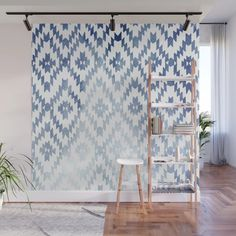 Buy Indigo Ikat Print 3 Wall Mural by enframephotography. Worldwide shipping available at Society6.com. Just one of millions of high quality products available.
