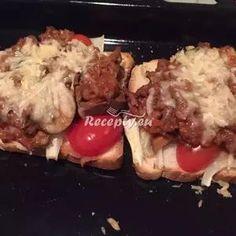 Vaření top receptu zapečené rajčatové topinky Steak, Toast, Beef, Chicken, Food, Meat, Essen, Steaks, Meals