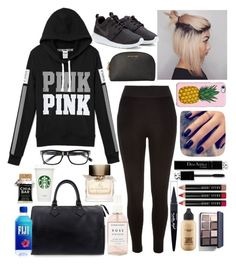 """""""Lazy days are here again."""" by nosha369 ❤ liked on Polyvore featuring Louis Vuitton, River Island, NIKE, Uncommon, Lottie, Michael Kors, Bobbi Brown Cosmetics, Maybelline, MAC Cosmetics and Burberry"""