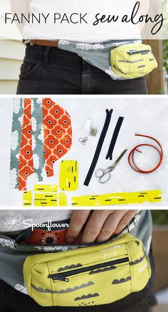 DIY Fanny Pack - How To Make A Fanny Pack (aka Belt Bag) - Today, Spoonflower team member Jenny drops by the blog to show you how to make the fanny pack of your dreams! Have you been feeling nostalgic about the 90s? Have you noticed that the once white-hot trend has returned? If so, you probably want your own fanny pack right about now. #sewing #fannypack #90s #retro #vintage #sewingproject #sewingtips #diy #sewingdiy