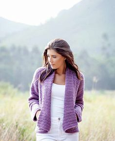 Wrap Cardigan - free crochet pattern by Brenda Grobler / African Expressions.
