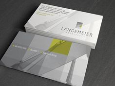 """""""Langemeier Architects Business Card 34 Architects Business Card Designs"""""""