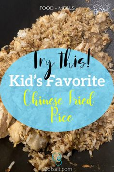Try these Kid's Favorite Chinese Fried Rice that is perfect for breakfast. If there are picky eaters in your household, this dish is perfect for you! They are so easy to make them taste so good! Check out the easy Chinese fried rice recipe at #ozofsalt #chinesefriedrice #kidsfavorite #easyrecipe Easy One Pot Meals, Easy Family Meals, Kids Meals, Healthy Dinner Recipes, Delicious Recipes, Great Recipes, Easy Chinese Fried Rice Recipe, Beef Fried Rice, Dinner Menu