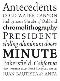 Vendetta by John Downer / Emigre Serif Typeface, Aluminium Doors, University Of Minnesota, Typography, Lettering, Type Design, Magazine, Inspiration, Culture