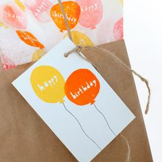 """Happy Birthday"" Balloons Stamp Set - product images of Happy Birthday Balloons, Retro Party, Kit, Paper Shopping Bag, Diy Gifts, Card Making, Presents, Gift Wrapping, Scrapbook"