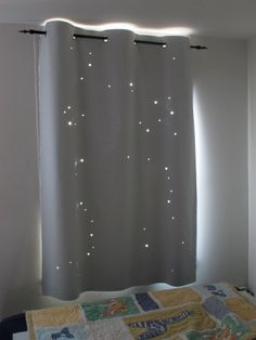 "X-LARGE - LIBRA constellation. Twinkle Curtain. Best Kids Product of 2011. Toddler nap curtain. Size: up to 54""x72"" (sizes-54"" or 44"")"