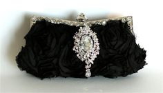 Black Silk Evening Purse by The Love Story