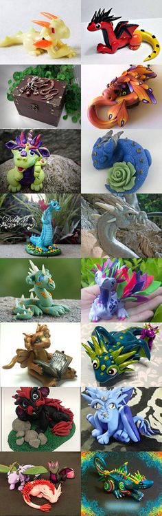 Polymer Clay Dragons on Etsy -- Handmade Dragon Sculptures from around the world, available for purchase on Etsy.