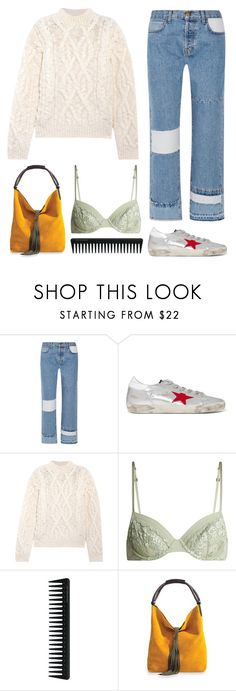 """""""6.889"""" by katrinattack ❤ liked on Polyvore featuring Current/Elliott, Golden Goose, Acne Studios, La Perla, GHD, school, schooloutfit, Schoolfashion and polyvorefashion"""
