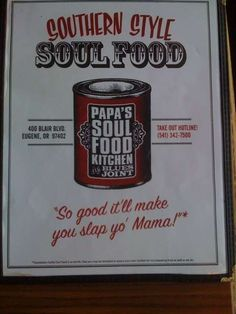 Papa's Soul Food Kitchen in Eugene, Oregon