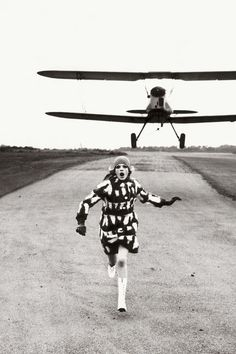 "What do we do when we don't! ""Run!"" Helmut Newton. Editorial, 1967."