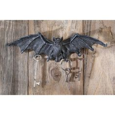 Vampire Bat Key Holder Wall Sculpture - Gothic Decor