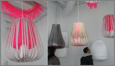 Love these handmade paper lanterns by Dutch designer Paula Arntzen.