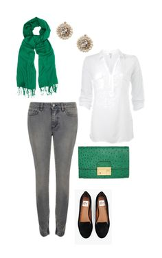 Perfect outfit for St. Patty's Day! Cute and on-trend.